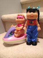 Pair of Cabbage Patch Dolls with Jet Ski