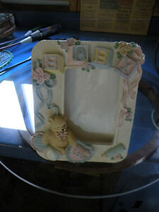 Ceramic Baby Picture Frame and Mini Photo Album