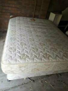 1 double size 2 queen size base with mattress.