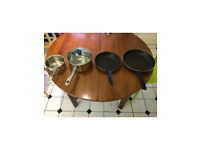 Pans for sale.