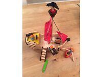 Plan Toys Wooden Pirate ship