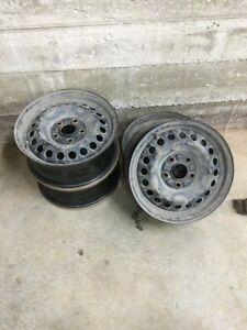 """4 roue acier noir honda civic 15"""" origine posé ballancé Saguenay Saguenay-Lac-Saint-Jean image 1"""
