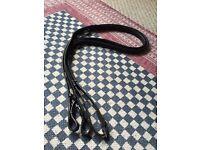 Equus Black Rubber Reins