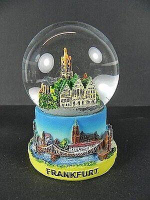 Schneekugel Frankfurt Römer,10cm,Germany Souvenir,Deutschland Snowglobe