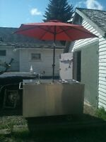 stainless steel hot dog/food cart great cond.free delivery!