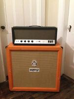 Orange 4x12 Guitar Cabinet + Sunn 100s  tube head