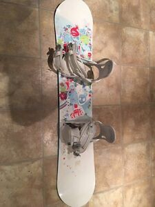 Girl Snowboard with Bindings and Boots