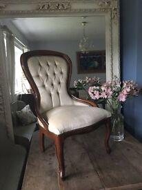 Beautiful Vintage Slipper Chair Bedroom/Lounge/Dining Room