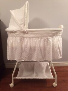 Bassinet- baby white bassinet - see all pictures