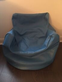 Kids blue beanbag chair