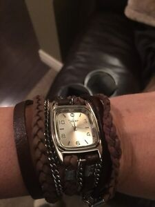 Winky watch with beautiful wrap around leather straps $50 Strathcona County Edmonton Area image 2
