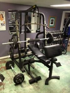 Nautilus Power Rack Adjust Bench Weights Bar + MORE! no dumbbell