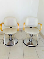 Hydraulic Salon Chairs and fixtures