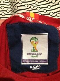 Spain football world cup t shirt 2014