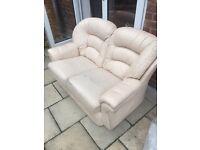 FREE cream 2 seater leather sofa