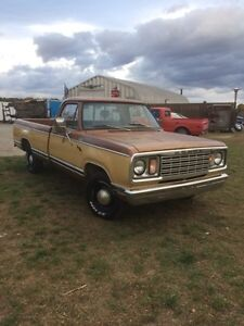 1977 DODGE D-100 CUSTOM PICKUP WITH PATINA FOR SALE