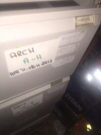 Metal draw filing cabinet