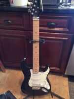 Electric guitar-amp-stand & electric tuner. Mint condition