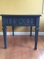 Painted side table