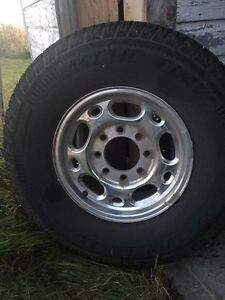 Winter tires and rims for a GMC OR CHEV