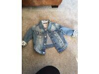 Girls denim jacket from next 12-18 months