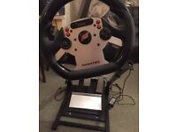 Fanatec CSR wheel and pedals with racing stand