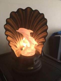 Tranquil Captivating Unique Rare Rotating Dolphin Lamp