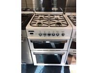 LEISURE 60CM DUAL FUEL COOKER IN WHITE