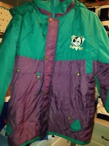 NHL hockey Anaheim mighty ducks winter coat