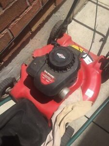 Lawnmower with bag - needs carb clena