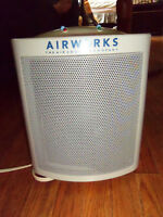 Airworks humidifier with ionizer and fan