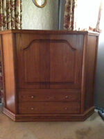 Solid Oak Hardwood TV Cabinet