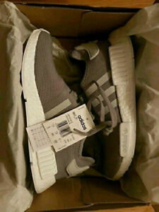 Brand New Adidas NMD R1 Grey Gray US 8 DS