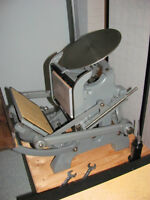 Équipement pour petit studio d'imprimerie Letterpress