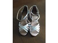 Size 3 silver dancing shoes