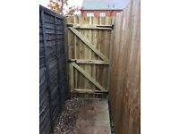 Treated new timber gates