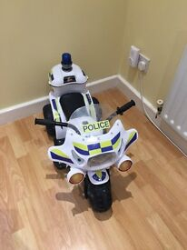 Electric police ride on scooter