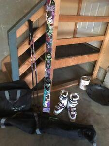 Girls ski set