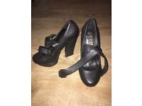 Office London Black Block Heels