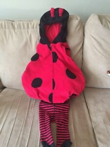 Lady bug costume with stripped tights 6-9 months