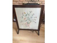 Vintage fire screen / card table