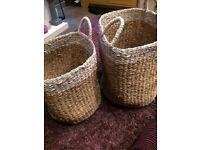 Brand new John Lewis wicker baskets