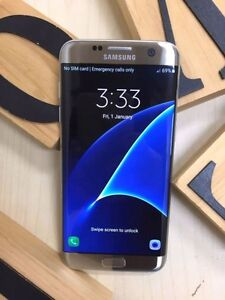 Near new Samsung Galaxy S7 Edge silver 32G UNLOCKED in box Calamvale Brisbane South West Preview