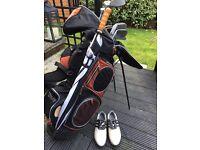 Full Golf Set plus Adidas Shoes Balls Tees etc