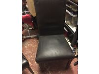 Good quality real leather brown chairs