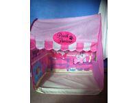 Kids tent as pooch parlour