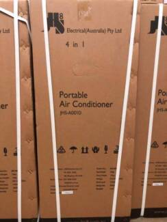 BRAND NEW JHS 4IN1 PORTABLE AIR CON, ONE YEAR WARRANTY, $389