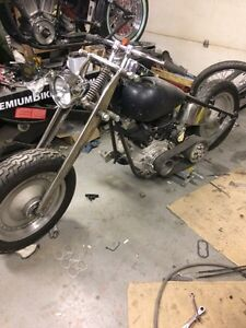 Harley shovel project.  Rat bike