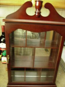 wall nicknack cabinet