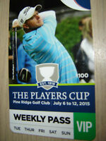 Players Cup - VIP Passes - VIP Tent - meal & beverage daily